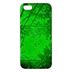 Leaf Outline Abstract iPhone 5S/ SE Premium Hardshell Case
