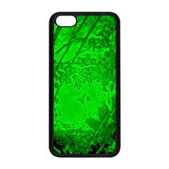 Leaf Outline Abstract Apple iPhone 5C Seamless Case (Black)