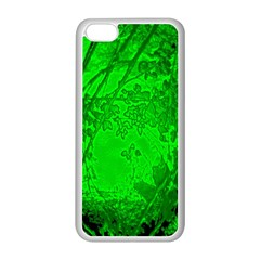 Leaf Outline Abstract Apple iPhone 5C Seamless Case (White)