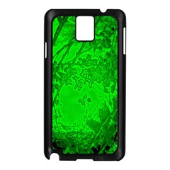 Leaf Outline Abstract Samsung Galaxy Note 3 N9005 Case (Black)