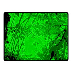 Leaf Outline Abstract Double Sided Fleece Blanket (Small)