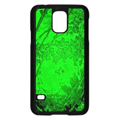 Leaf Outline Abstract Samsung Galaxy S5 Case (Black)