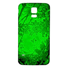 Leaf Outline Abstract Samsung Galaxy S5 Back Case (White)