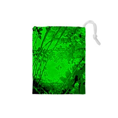 Leaf Outline Abstract Drawstring Pouches (Small)