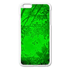 Leaf Outline Abstract Apple Iphone 6 Plus/6s Plus Enamel White Case