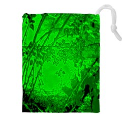 Leaf Outline Abstract Drawstring Pouches (XXL)