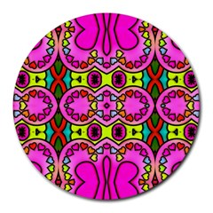 Colourful Abstract Background Design Pattern Round Mousepads