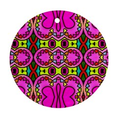 Colourful Abstract Background Design Pattern Ornament (round)