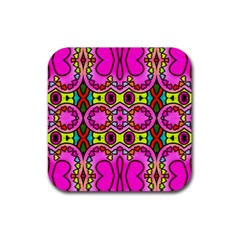 Colourful Abstract Background Design Pattern Rubber Coaster (Square)