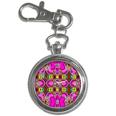 Colourful Abstract Background Design Pattern Key Chain Watches