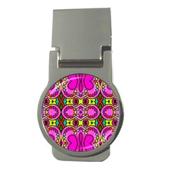 Colourful Abstract Background Design Pattern Money Clips (Round)