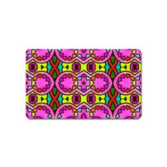 Colourful Abstract Background Design Pattern Magnet (Name Card)