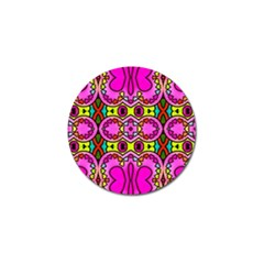 Colourful Abstract Background Design Pattern Golf Ball Marker (4 Pack)