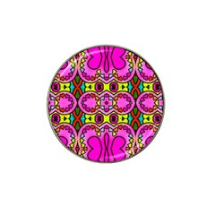 Colourful Abstract Background Design Pattern Hat Clip Ball Marker (4 Pack)