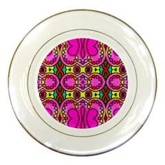 Colourful Abstract Background Design Pattern Porcelain Plates