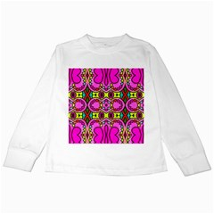 Colourful Abstract Background Design Pattern Kids Long Sleeve T-Shirts