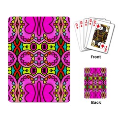 Colourful Abstract Background Design Pattern Playing Card