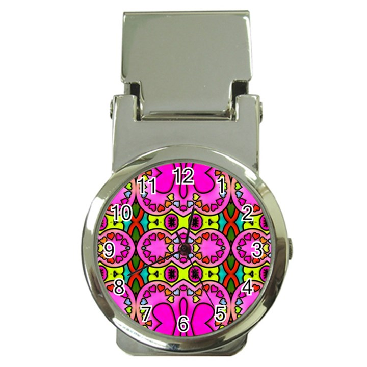 Colourful Abstract Background Design Pattern Money Clip Watches