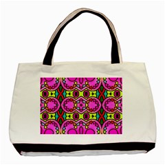 Colourful Abstract Background Design Pattern Basic Tote Bag