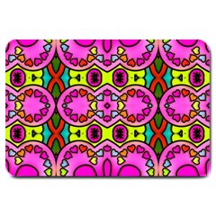 Colourful Abstract Background Design Pattern Large Doormat