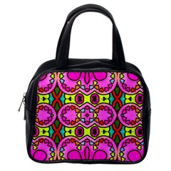 Colourful Abstract Background Design Pattern Classic Handbags (one Side)