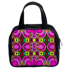 Colourful Abstract Background Design Pattern Classic Handbags (2 Sides)