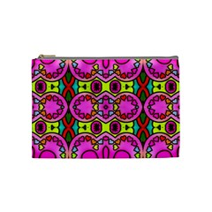 Colourful Abstract Background Design Pattern Cosmetic Bag (medium)