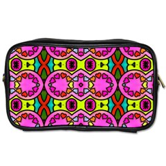 Colourful Abstract Background Design Pattern Toiletries Bags