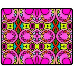 Colourful Abstract Background Design Pattern Fleece Blanket (medium)