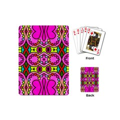 Colourful Abstract Background Design Pattern Playing Cards (mini)