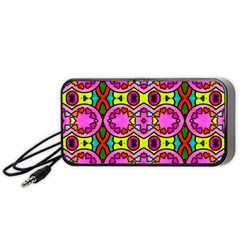 Colourful Abstract Background Design Pattern Portable Speaker (Black)