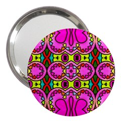Colourful Abstract Background Design Pattern 3  Handbag Mirrors
