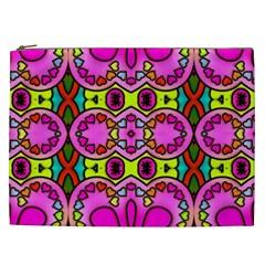 Colourful Abstract Background Design Pattern Cosmetic Bag (XXL)