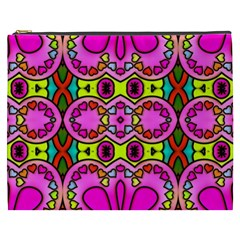 Colourful Abstract Background Design Pattern Cosmetic Bag (XXXL)
