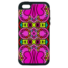 Colourful Abstract Background Design Pattern Apple iPhone 5 Hardshell Case (PC+Silicone)