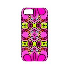 Colourful Abstract Background Design Pattern Apple iPhone 5 Classic Hardshell Case (PC+Silicone)