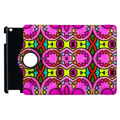 Colourful Abstract Background Design Pattern Apple iPad 2 Flip 360 Case