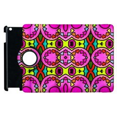 Colourful Abstract Background Design Pattern Apple iPad 3/4 Flip 360 Case