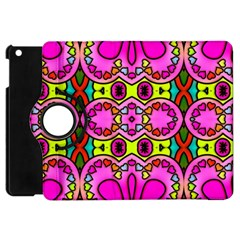 Colourful Abstract Background Design Pattern Apple iPad Mini Flip 360 Case