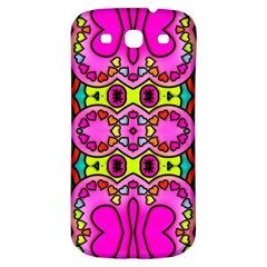 Colourful Abstract Background Design Pattern Samsung Galaxy S3 S III Classic Hardshell Back Case