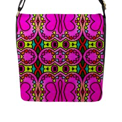 Colourful Abstract Background Design Pattern Flap Messenger Bag (L)
