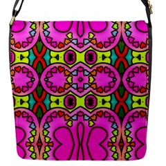 Colourful Abstract Background Design Pattern Flap Messenger Bag (S)