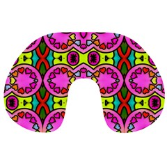 Colourful Abstract Background Design Pattern Travel Neck Pillows