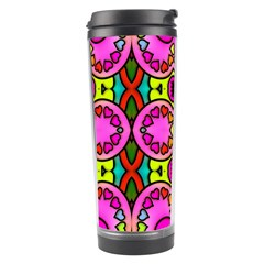 Colourful Abstract Background Design Pattern Travel Tumbler