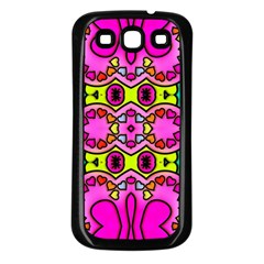 Colourful Abstract Background Design Pattern Samsung Galaxy S3 Back Case (Black)