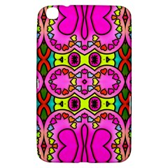 Colourful Abstract Background Design Pattern Samsung Galaxy Tab 3 (8 ) T3100 Hardshell Case