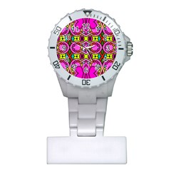 Colourful Abstract Background Design Pattern Plastic Nurses Watch