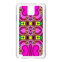 Colourful Abstract Background Design Pattern Samsung Galaxy Note 3 N9005 Case (White)