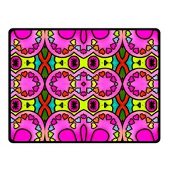 Colourful Abstract Background Design Pattern Double Sided Fleece Blanket (Small)