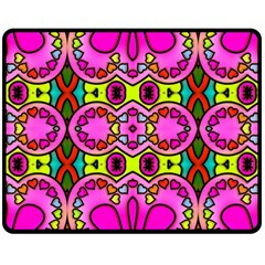 Colourful Abstract Background Design Pattern Double Sided Fleece Blanket (Medium)